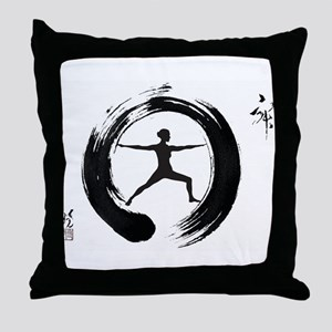 Tai Chi, Woman Throw Pillow