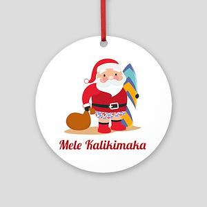 ChristmasMeleKalikimaka1A Round Ornament