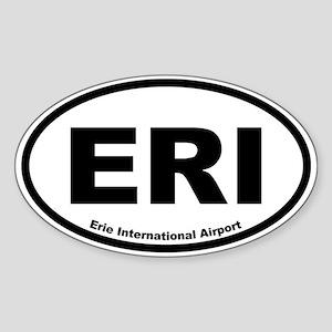 Erie International Airport Oval Sticker