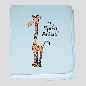 Funny Giraffe Spirit Guide baby blanket