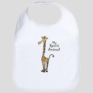 Funny Giraffe Spirit Guide Baby Bib