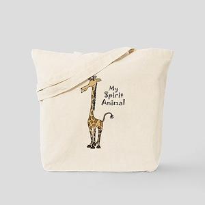 Funny Giraffe Spirit Guide Tote Bag