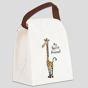 Funny Giraffe Spirit Guide Canvas Lunch Bag