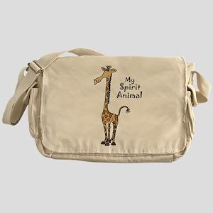 Funny Giraffe Spirit Guide Messenger Bag