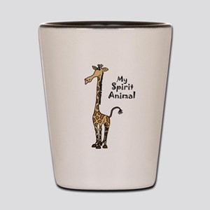 Funny Giraffe Spirit Guide Shot Glass