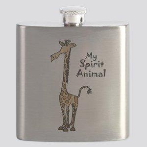 Funny Giraffe Spirit Guide Flask