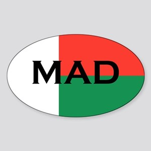 Madagascan stickers Oval Sticker