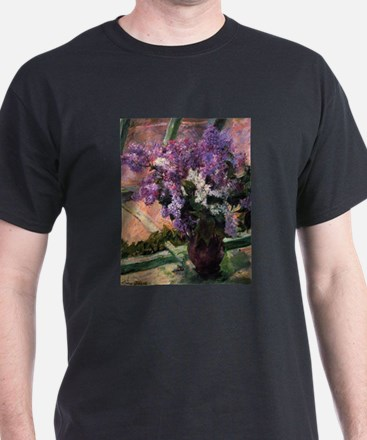 Lilacs in a Window by Mary Cassatt T-Shirt