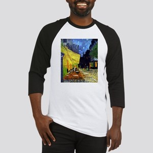 Cafe Terrace at Night by Van Gogh Baseball Jersey