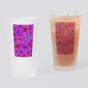 Fantasy Flowers Drinking Glass