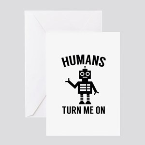 Funny Robot Sayings Greeting Cards Cafepress