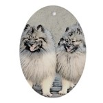 Keeshonds Oval Ornament