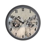 Keeshonds Wall Clock