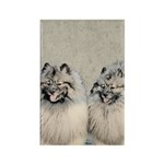 Keeshonds Rectangle Magnet (10 pack)