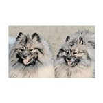 Keeshonds 35x21 Wall Decal