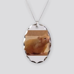 Daisy - Hamster Necklace Oval Charm