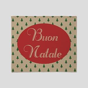 Buon Natale - Italian Merry Christma Throw Blanket