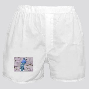 blue jay & cherry blossoms Boxer Shorts