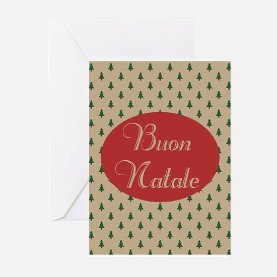 Buon Natale - Italian Merry Christm Greeting Cards