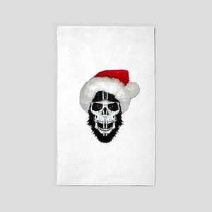 Pirate santa skull Area Rug