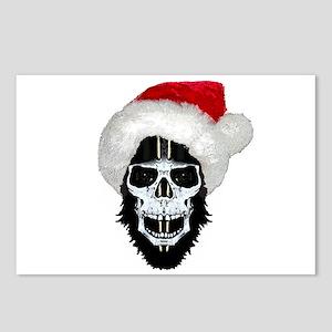 Pirate santa skull Postcards (Package of 8)