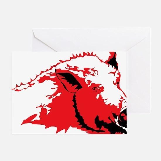 Unique Hog Greeting Card