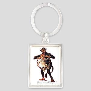 Gruss vom (Greetings From) Krampus Keychains