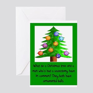Vasectomy greeting cards cafepress christmas vasectomy ornamental ba greeting cards m4hsunfo