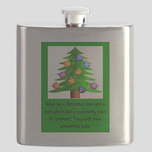 Christmas Vasectomy - Ornamental Balls Flask