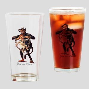 Gruss vom (Greetings From) Krampus Drinking Glass