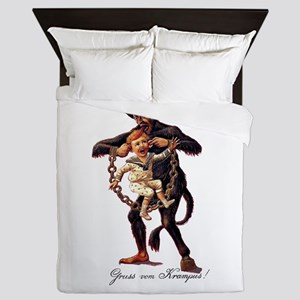 Gruss vom (Greetings From) Krampus Queen Duvet