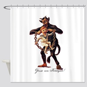Gruss vom (Greetings From) Krampus Shower Curtain