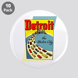 "Detroit - The Motor City 3.5"" Button (10 pack)"