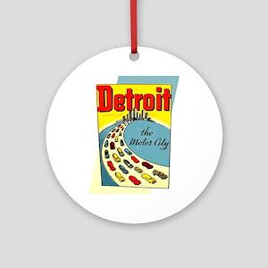 Detroit - The Motor City Round Ornament