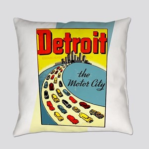 Detroit - The Motor City Everyday Pillow