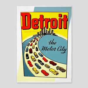 Detroit - The Motor City 5'x7'Area Rug