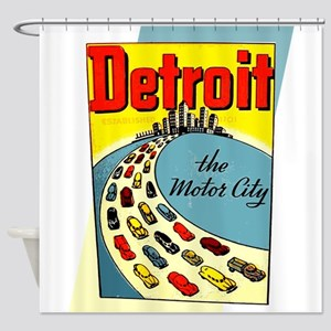 Detroit - The Motor City Shower Curtain