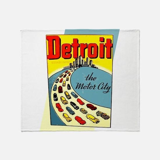Detroit - The Motor City Throw Blanket