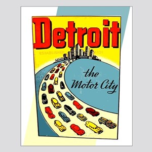 Detroit - The Motor City Small Poster