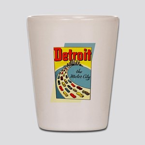 Detroit - The Motor City Shot Glass