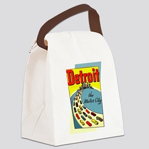 Detroit - The Motor City Canvas Lunch Bag