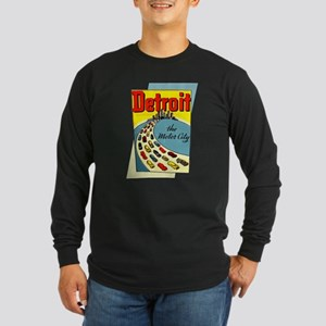 Detroit - The Motor City Long Sleeve Dark T-Shirt