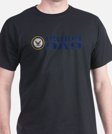 U.S. Navy: Proud Dad (Blue) T-Shirt