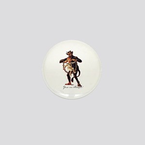 Gruss vom (Greetings From) Krampus Mini Button