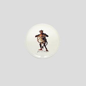 Gruss vom (Greetings From) Krampus Mini Button