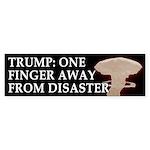 Trump: One Finger Away Bumper Sticker