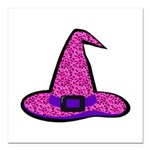 "Pinky Witch Square Car Magnet 3"" x 3"""