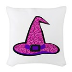 Pinky Witch Woven Throw Pillow