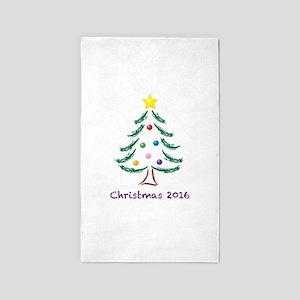 Holiday Christmas Tree 2016 Area Rug
