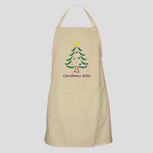 Holiday Christmas Tree 2016 Apron